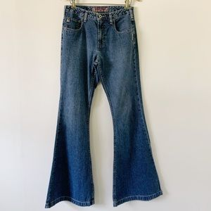 Vintage Silver High Rise Bell Bottom Jeans Size 27